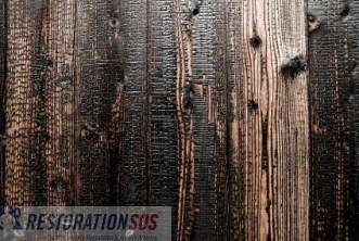 Burnt wooden floors